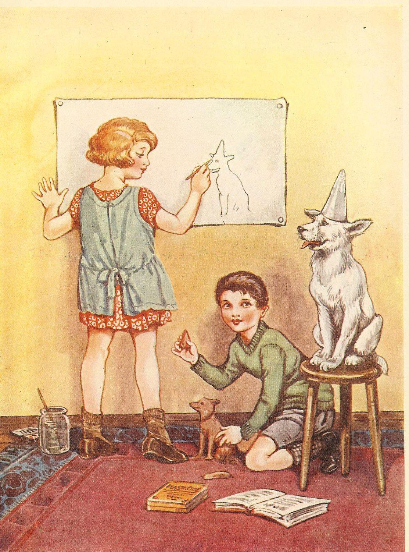 1920s Book Illustration Sweet Innocence
