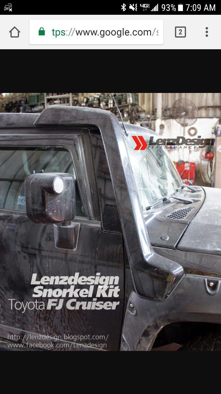 image result for toyota fj cruiser 2007 2014 snorkel kit lenzdesign rh pinterest com