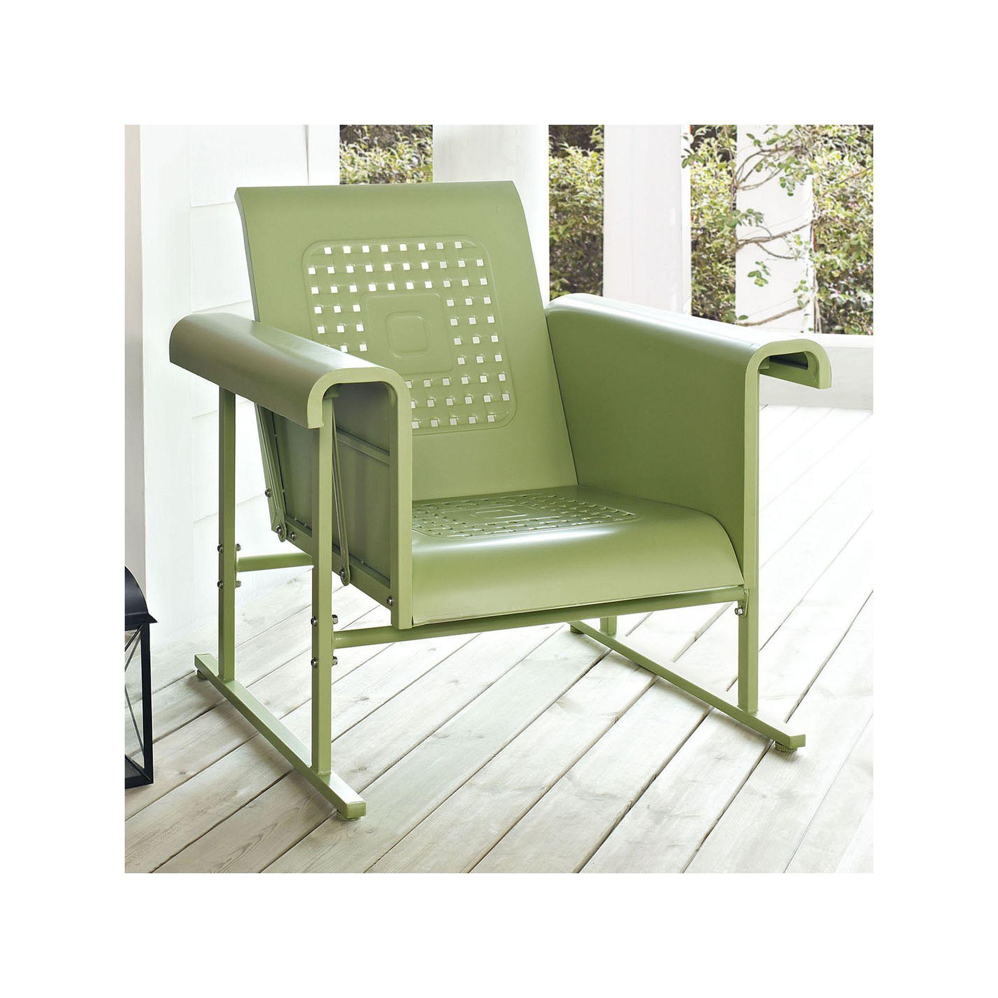Crosley Outdoor Veranda Single Glider Chair, Green