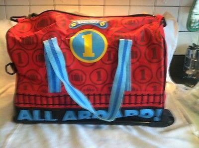Thomas The Train Book Bag Luggage On Wheels W Straps All Aboard