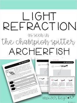 Extend your light study of refraction with the archerfish. Nature and Science collide!