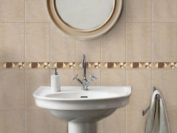 sequence beige matt ceramic wall listello  200 x 56mm
