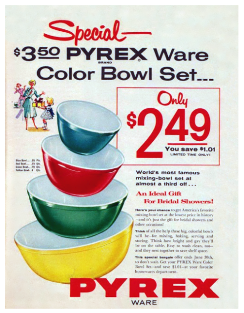 Detail from 1955 Pyrex Advertisement.