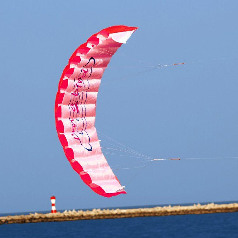 1.4 cm de Doble Línea Parafoil de Kite Con Las Herramientas del Vuelo Power Braid vela Flying Kite Kitesurf Playa Deportes Diversión Al Aire Libre Juguetes 3 Color