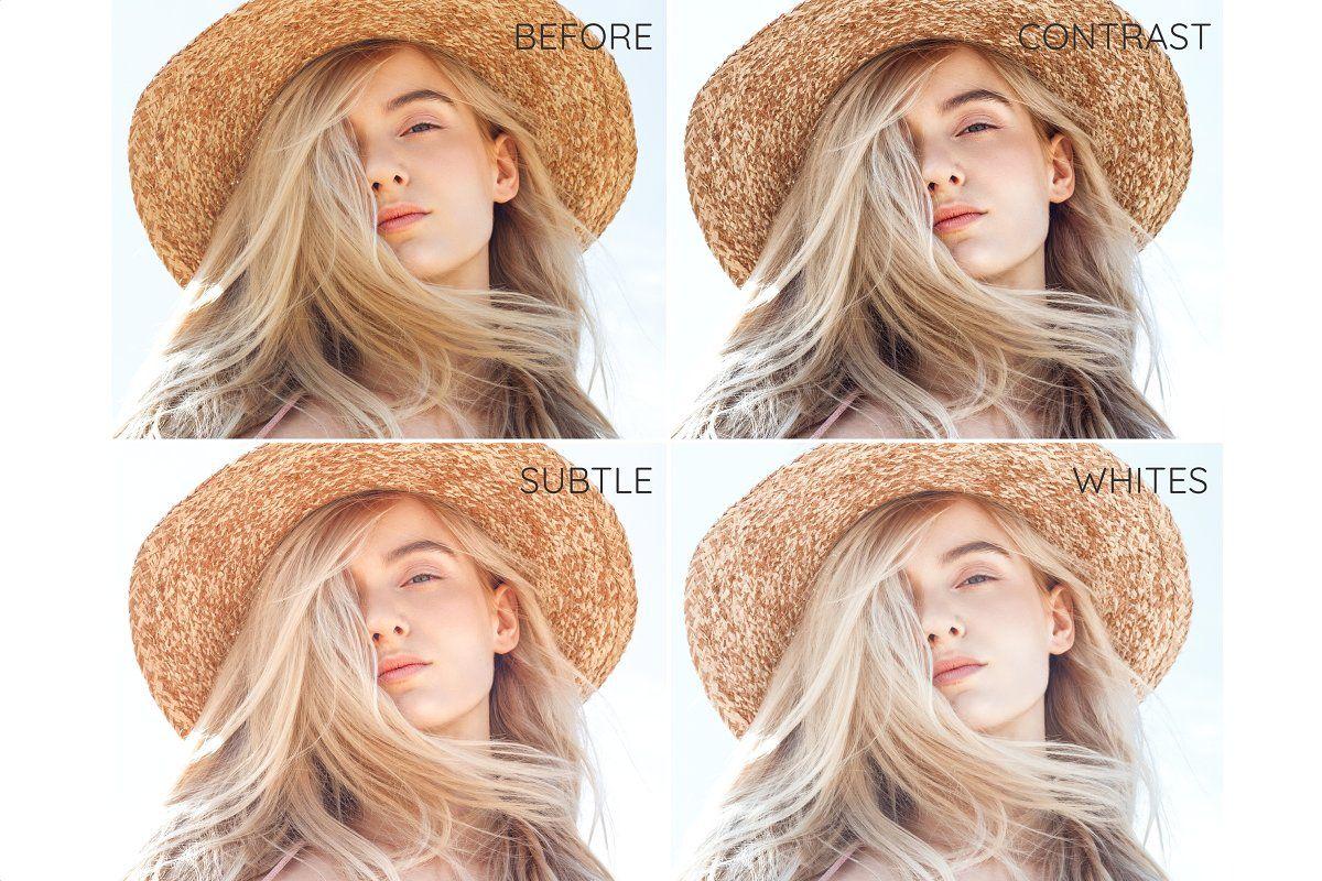 14 Blonde Hair Desktop Lightroom Presets and ACR preset