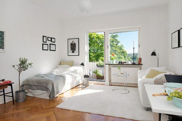 charmante einzimmerwohnung in schweden mit vorteilen aus zwei epochen - Einzimmerwohnung