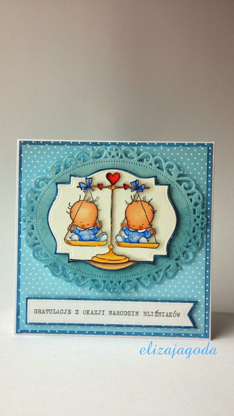 Gratulacje Z Okazji Narodzin Blizniakow Baby Cards Cards