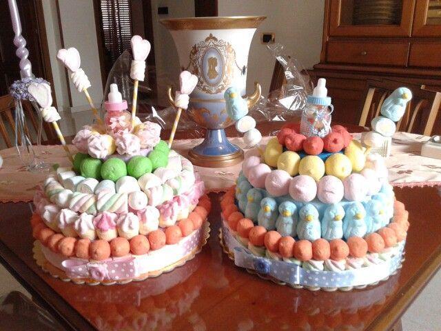 Torte di Marshmallows per Battesimo/Nascita