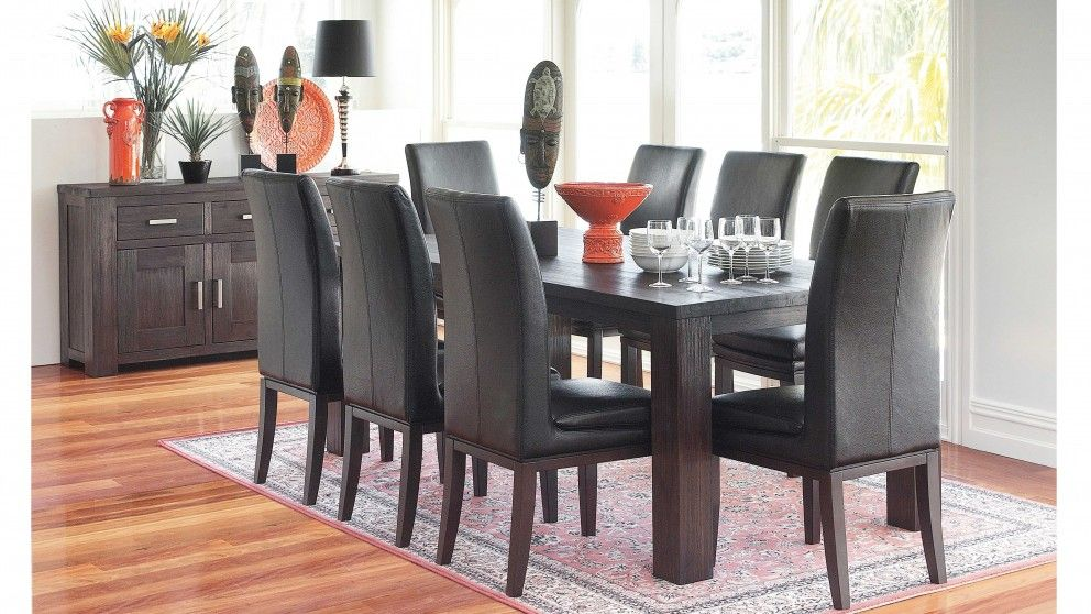 Rustic 9 Piece Dining Setting