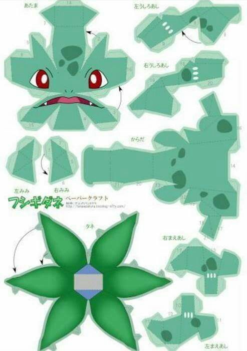 Bulbasaur Costume Papercraft Pokemon 3ds Pikachu Halloween 2016 Costumes Paper Toys The Internet Kid Crafts