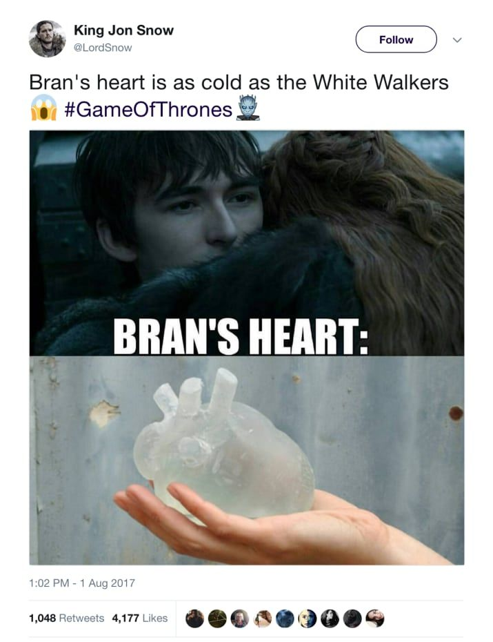 26 Bran Stark Tweets That Will Make You Say We Get It You Re The Three Eyed Raven Bran Game Of Thrones Game Of Thrones Meme Game Of Thrones Funny