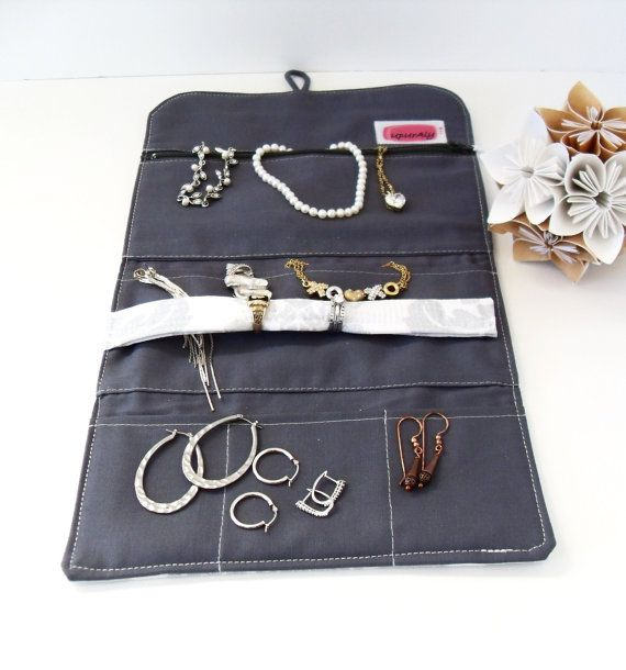 Travel Jewelry Organizer Jewelry Roll Custom Made You choose