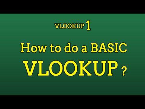 How to Do a VLOOKUP in Excel #1  Basics of VLOOKUP - V1 HR
