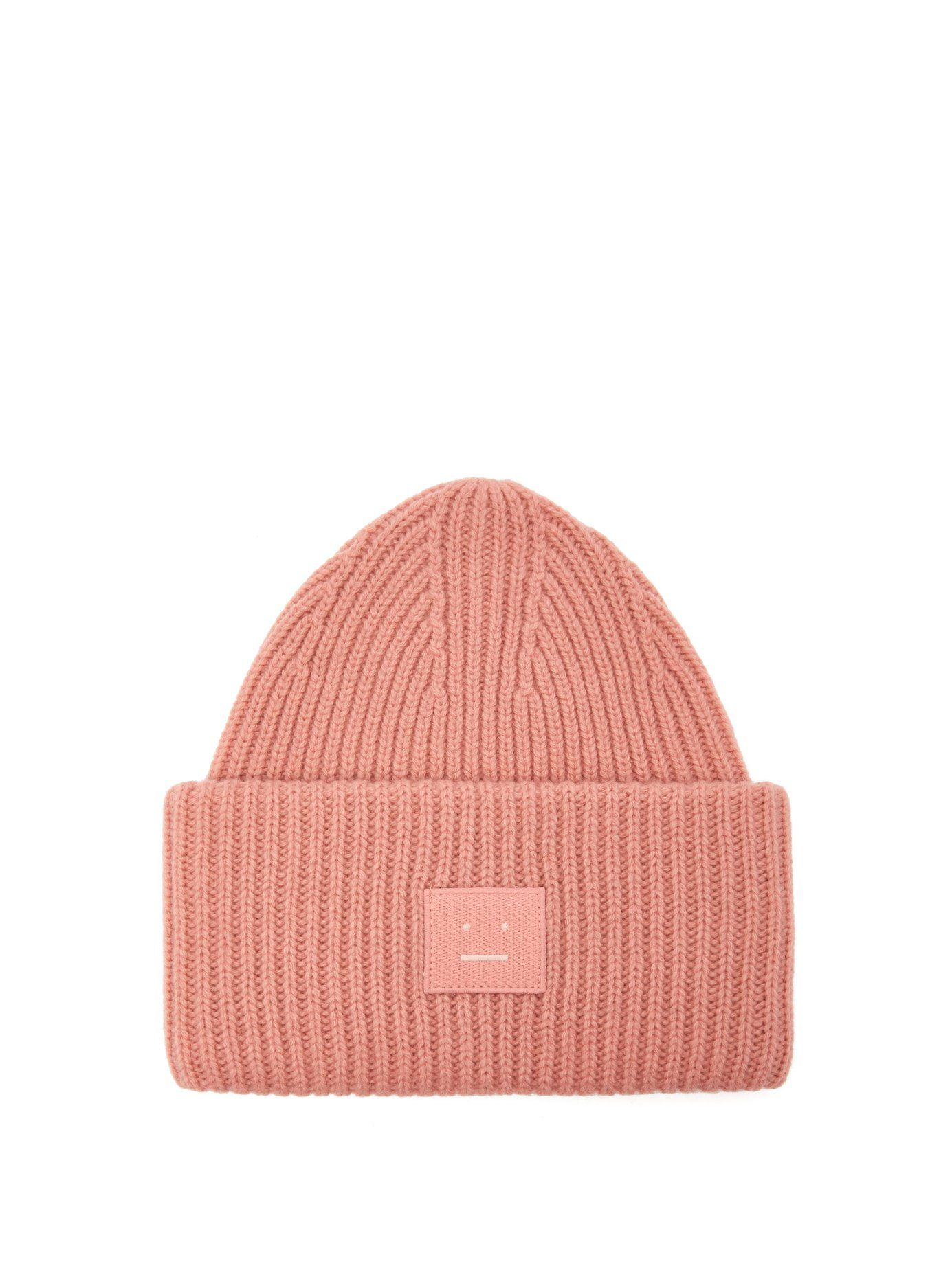 50f07c3c0 Pansy S Face ribbed-knit beanie hat   Acne Studios   MATCHESFASHION ...