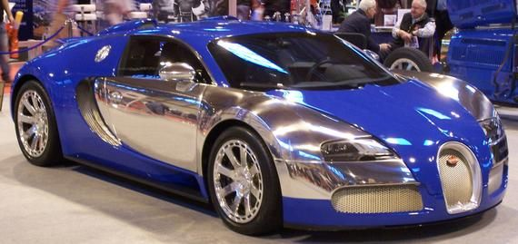 Photograph: Bugatti Veyron blue chrome (2011 Classic Car Show) – Digital Download jpeg jpg file