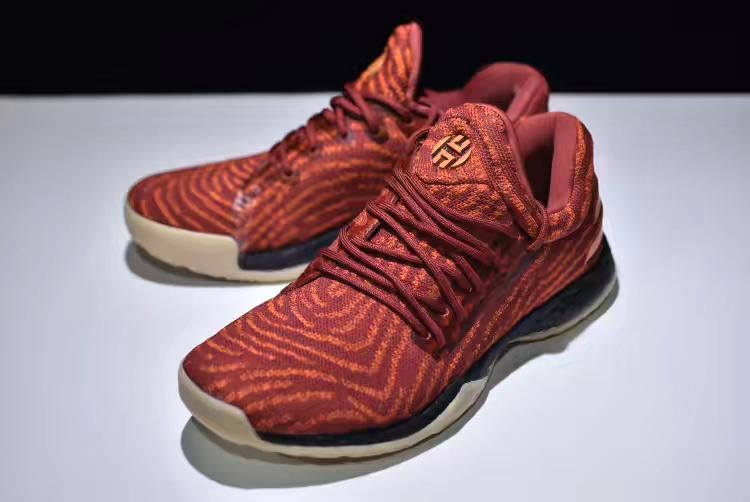 "f0c397187444 2018 adidas Harden LS ""Fast Life"" Red Orange-Black Free Shipping"