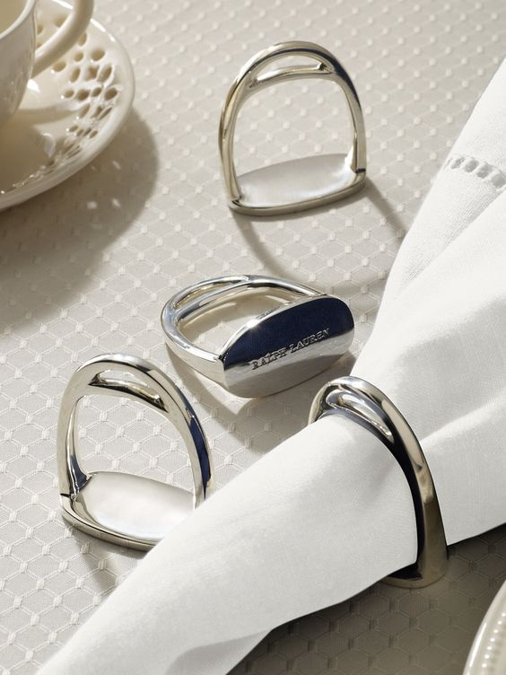 Ralph Lauren Napkin Ring Made From Brushed Cotton