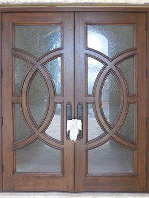 Mahogany Wood Doors With Glass   Custom Door Shop
