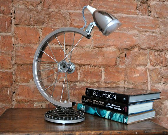 escritorio de rueda de Lámpara lámpara de de bicicleta mesa pGMSqUzV