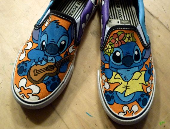 4865854a305a8 Custom Hand Painted - Disney Lilo and Stitch Canvas Shoes - Adult or ...