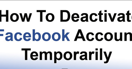 temporarily disable facebook iphone
