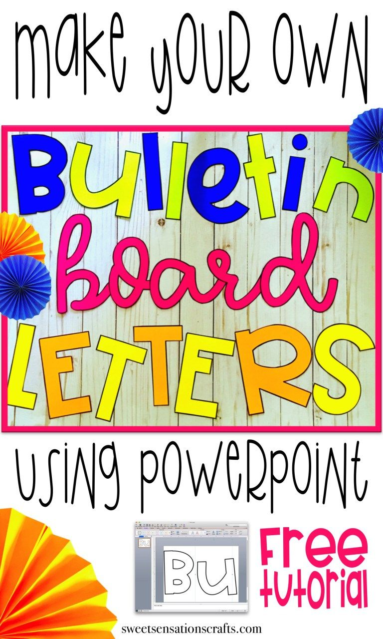 fancying up your bulletin board letters | printables | pinterest