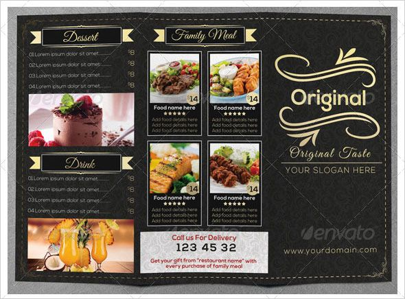 36+ Best Menu Card Templates Free Sample, Examples (2018) Menu - sample cafe menu template