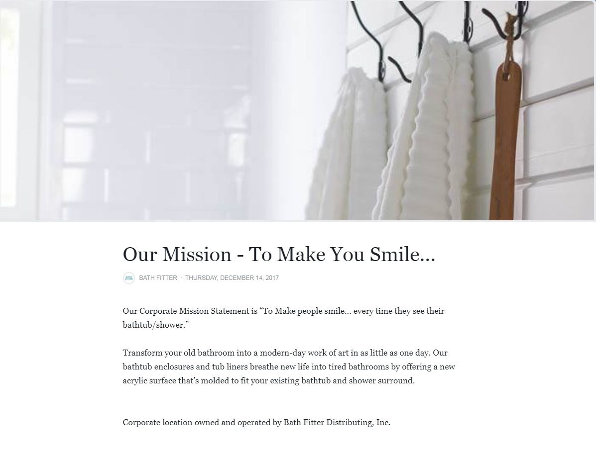 Our Mission Statement To Make People Smile Every Time They See