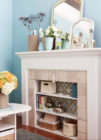 15 Clever Ways to Decorate Your Non-Working Fireplace