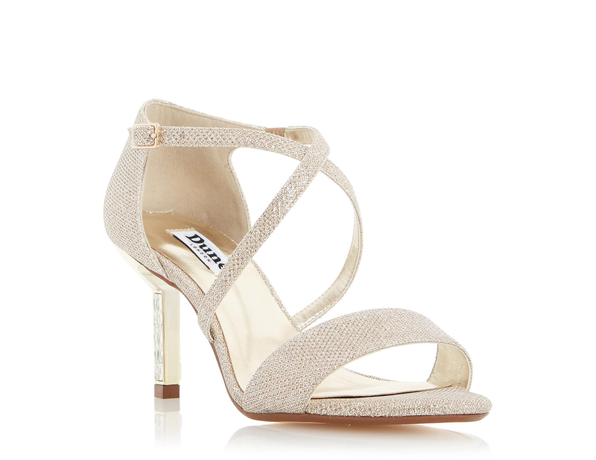 Black dress sandals medium heel - Channel Old School Glamour In This Cross Strap Mid Heel Party Sandal Featuring A