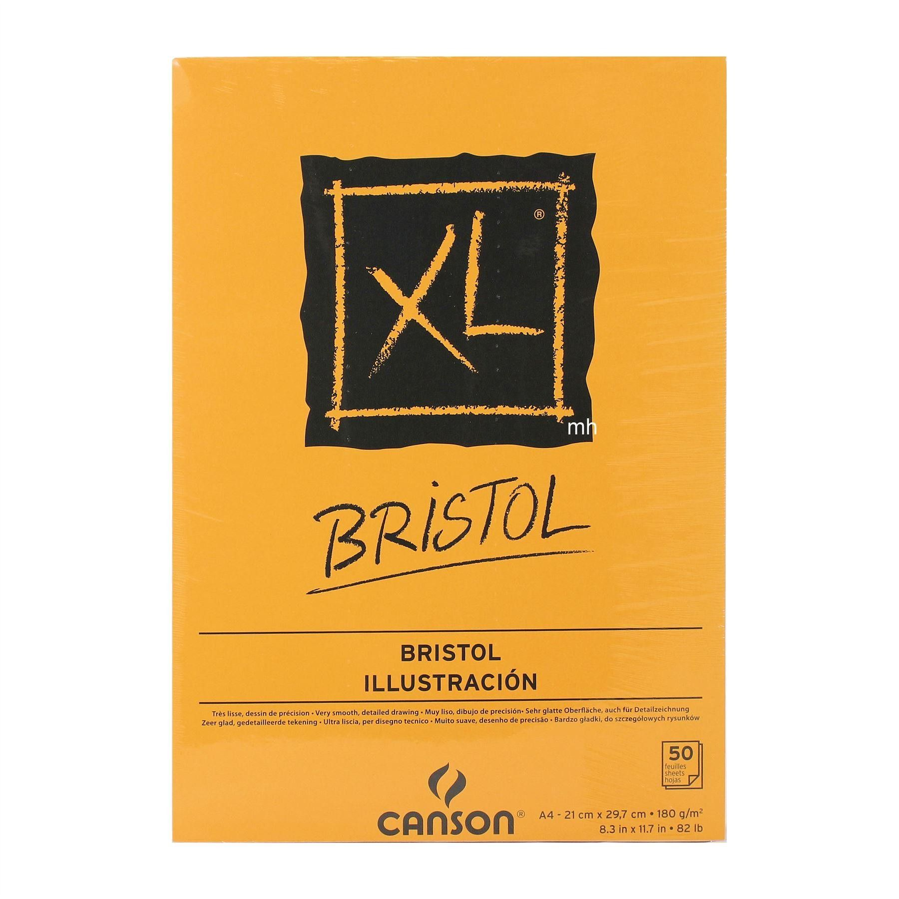 Canson Xl Bristol Pad 50 Sheets In A4 Or A3 180gsm With Images