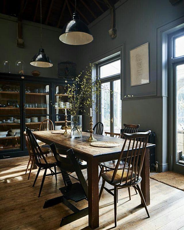 A Little Bit Of Kitchen Inspo. Dark Walls. Love The Ercol