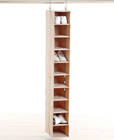 Single Column Shoe Shelf In The Nook Beside The Shoe Bench
