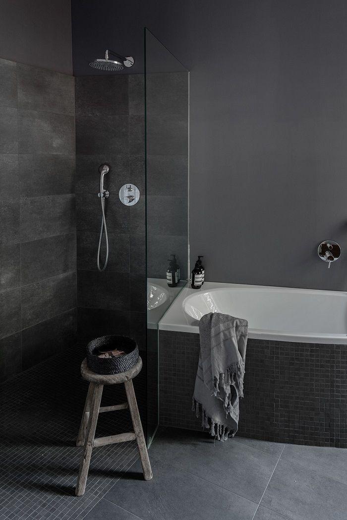 losas de color gris en el baño moderno Proyectos que debo intentar