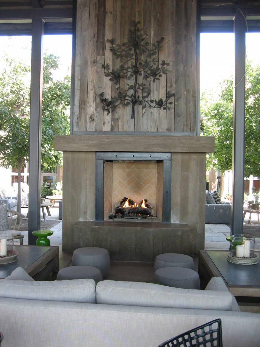 Barn Architecture Styles With Conservative Fireplace For