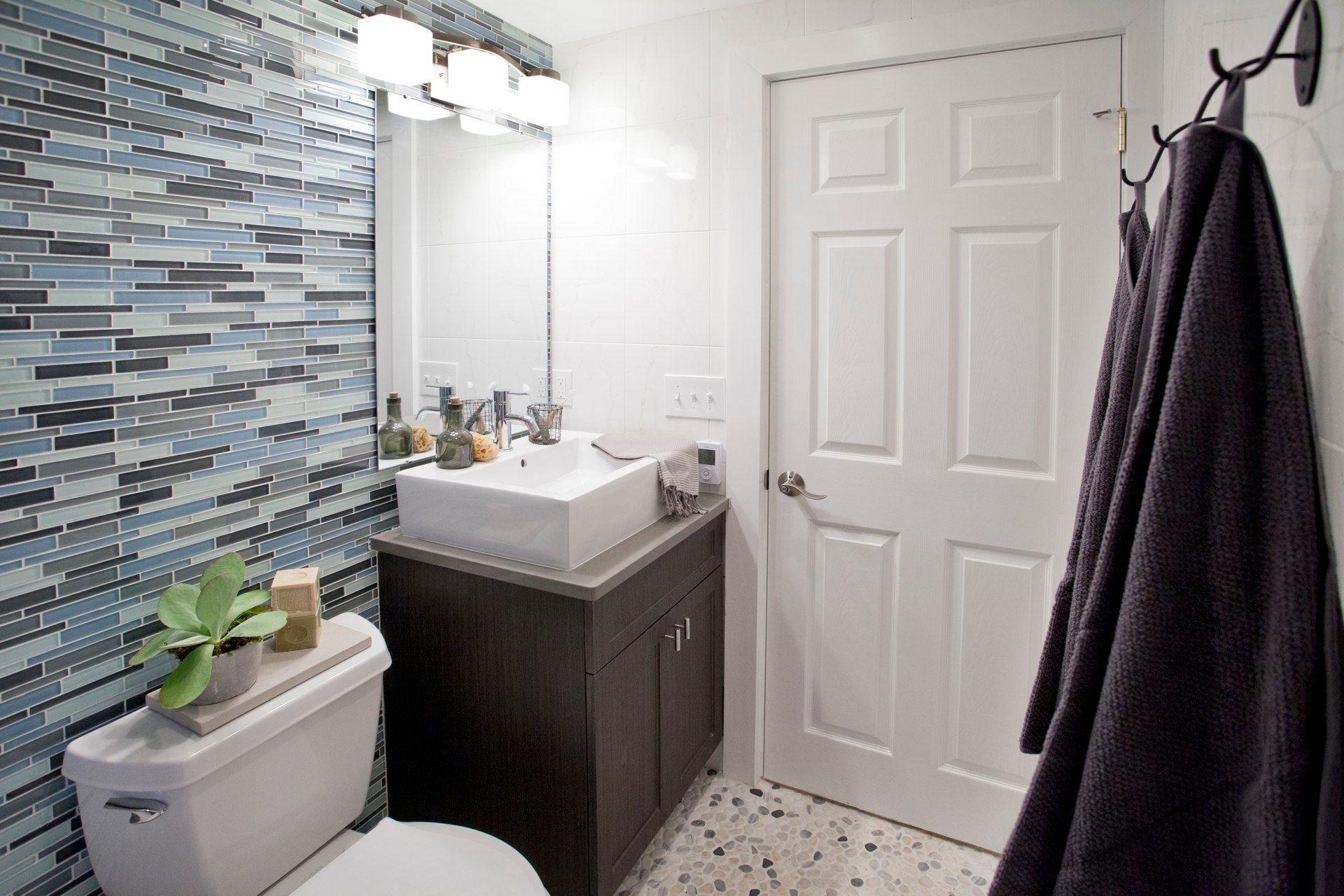 Heated Bathroom floors by NuHeat Cousins Call S1