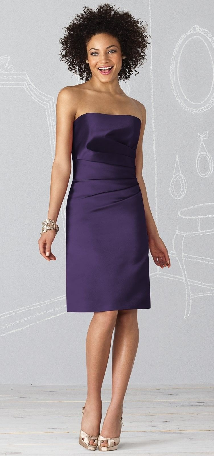After six bridesmaid dresses style duchess satin