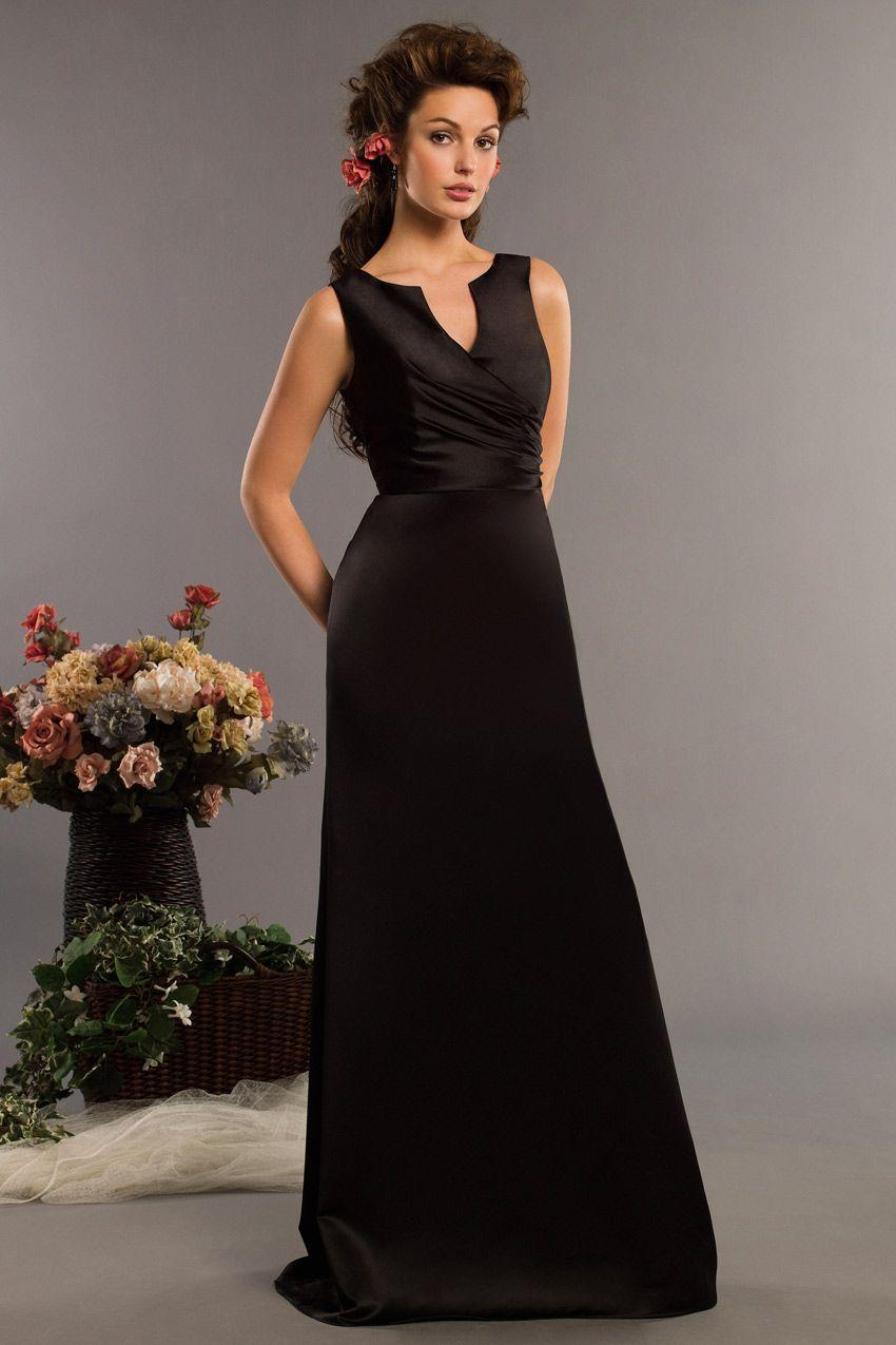 Black bridesmaid dresses aline long black straps pleated with black bridesmaid dresses aline long black straps pleated with ribbon satin a line long ombrellifo Gallery