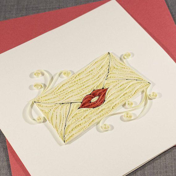 3d handmade love card blank quilled love letter love