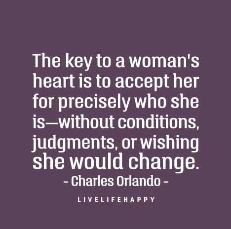 The key to a woman's heart is ...