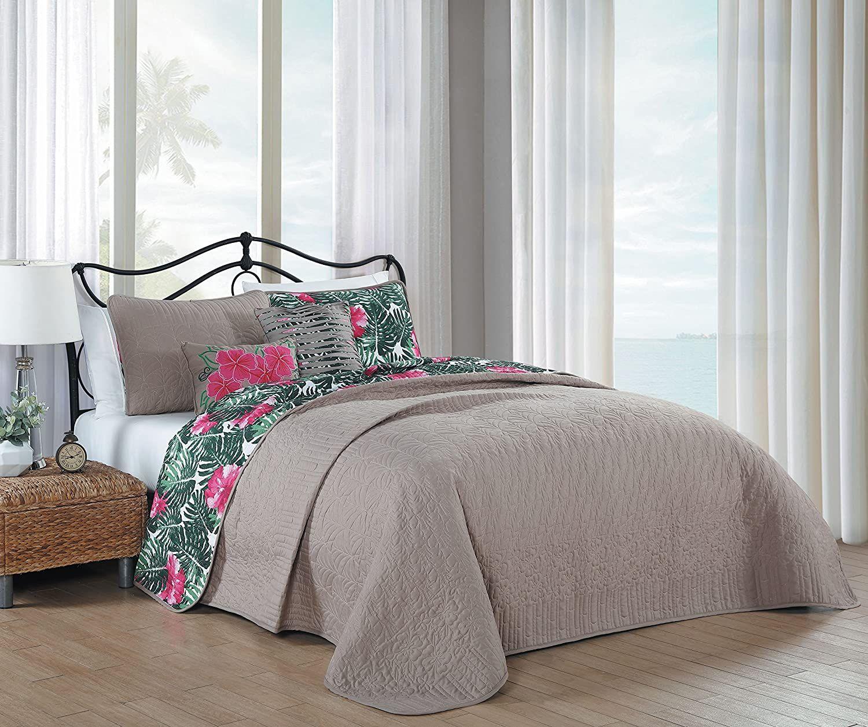 Full//Queen SupraSoft Caterina 3pc Bedspread Coverlet Set Light Blue