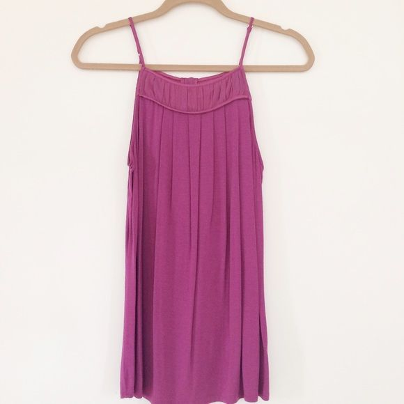 Nu Collective Bow Back Top Never been worn! 100% perfect condition! Magenta color with bow detail on back (pre-tied and sown so it won't come undone). Beautiful top. Can ship same-day! NuCollective Tops