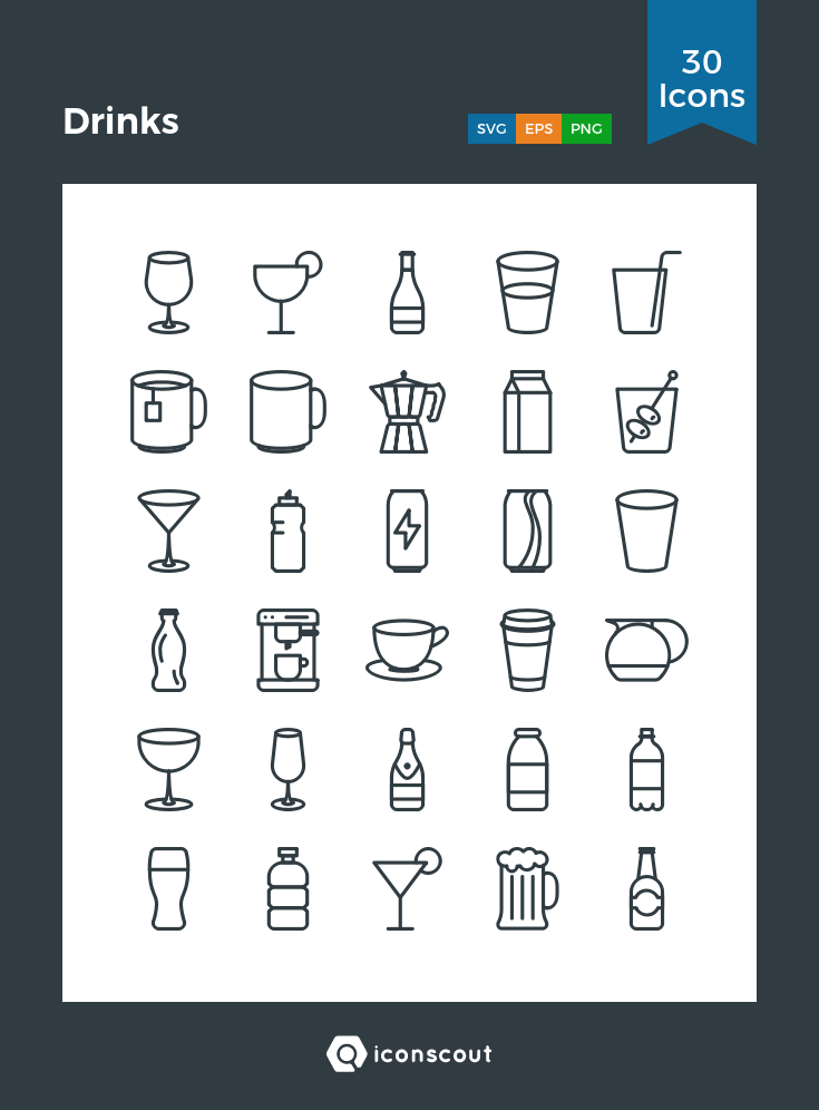 Download Download Drinks Icon pack - Available in SVG, PNG, EPS, AI ...