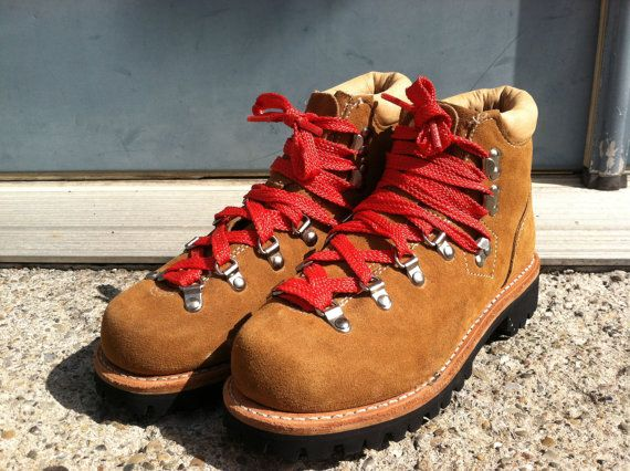 Original 70s Suede Red Lace Hiking