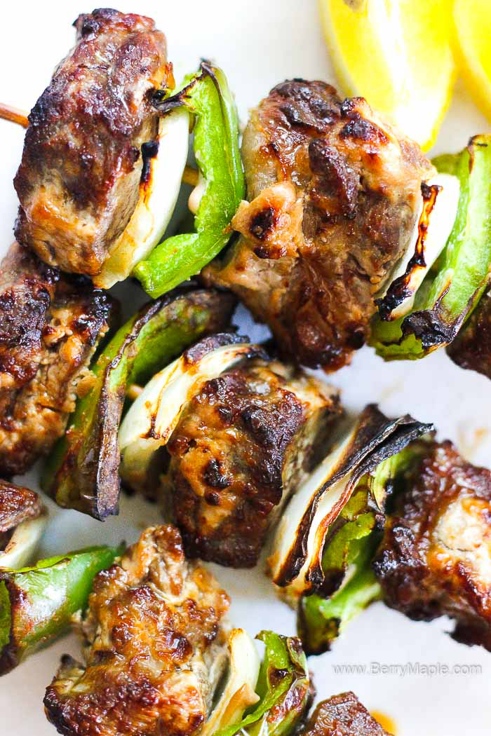 Air fryer beef kabobs, skewers, whatever you call them! So