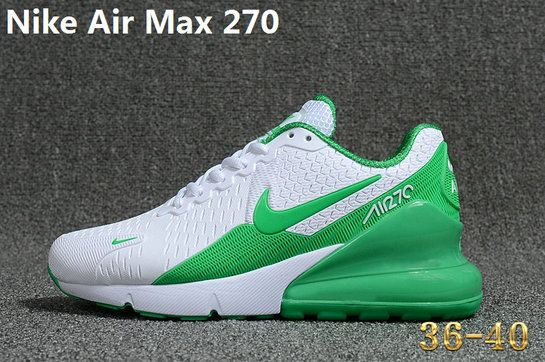 cbac342abc6e59 Young Nike Air Max 270 Big Boys Shoe KPU Latest Styles Running Shoes  Sneakers 2018 White Green