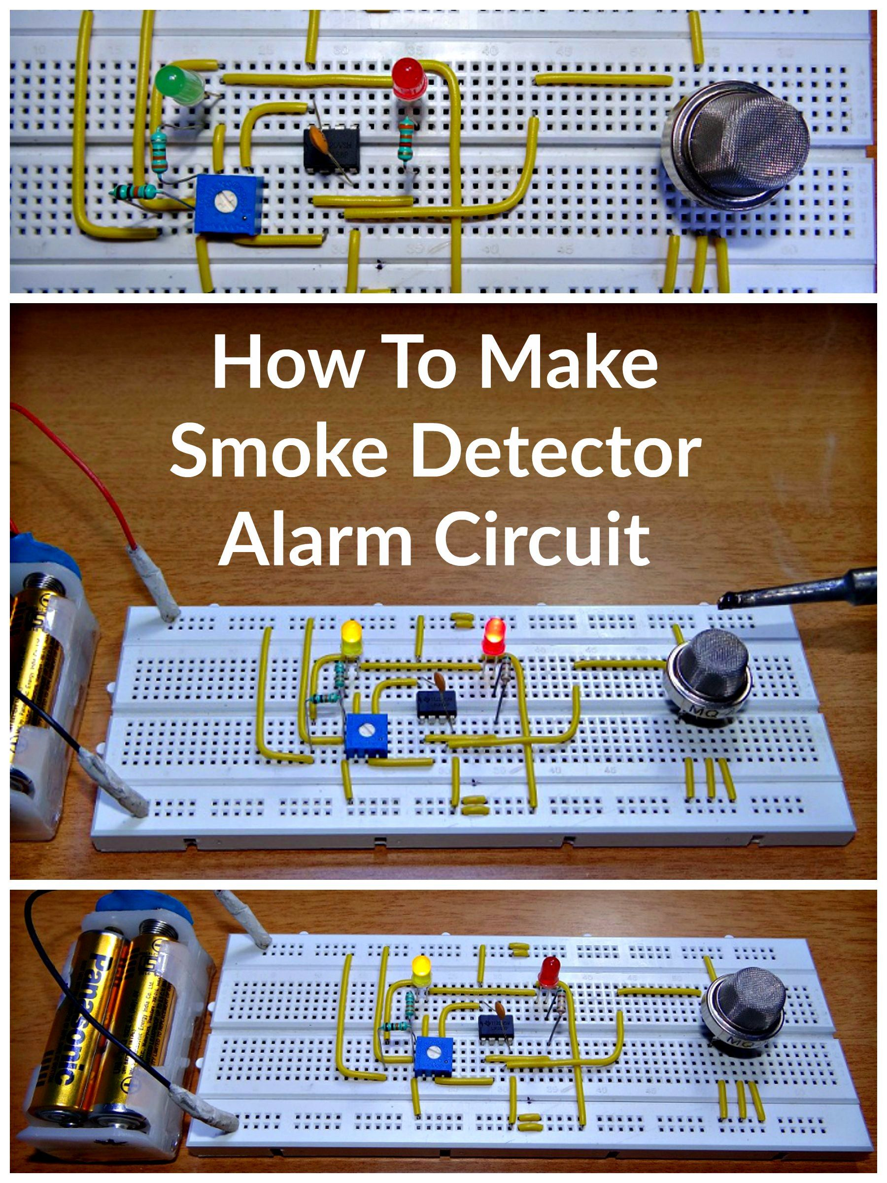 How To Make Smoke Detector Alarm Circuit Arduino Pinterest Relay Circuits By Photo Transistor Electronic Projects Electronics Engineering