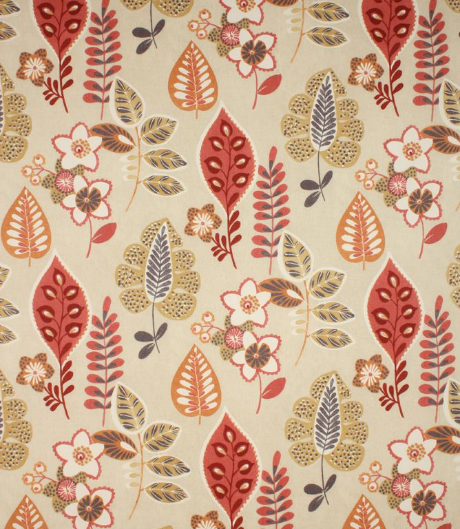Contemporary leaf fabric, Folia is made from 100% cotton and available in a range of colours. This stylish fabric would make great blinds and is also stunning as a curtain fabric and cushion fabric. Why not take advantage of our made to measure service and have your curtains and blinds professionally made in our Cotswold workroom.