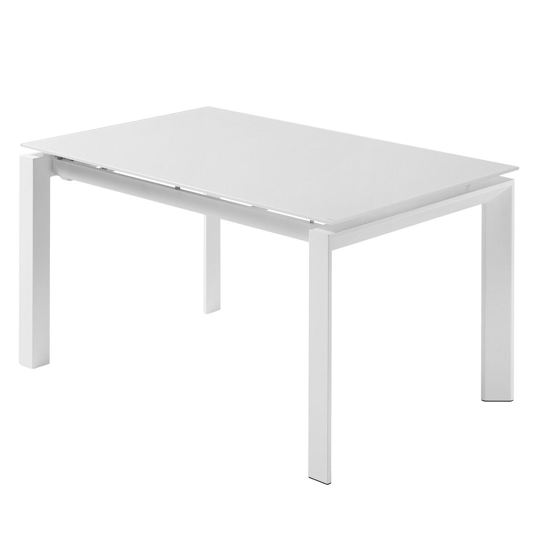 Esstisch Pattada (mit Ausziehfunktion) - Glas / Stahl - Weiß ...