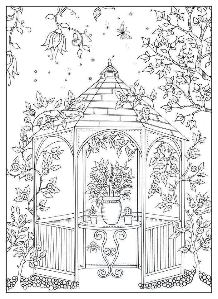 Garden Gazebo Coloring Page